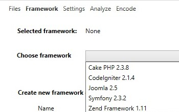 2 Framework selection